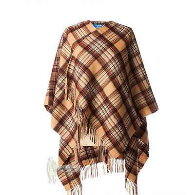 Edinburgh - Soft & Warm Lambswool Mini Or Girls Cape - Stewart Camel