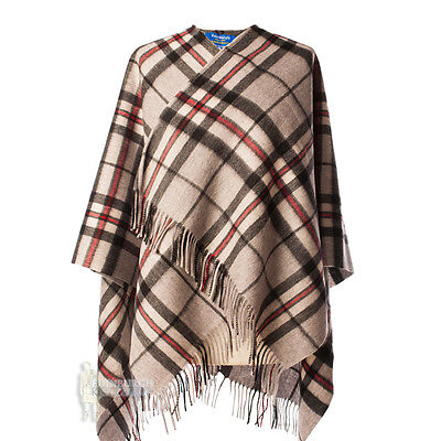 Edinburgh - Soft & Warm Lambswool Mini Or Girls Cape - Thomson Grey