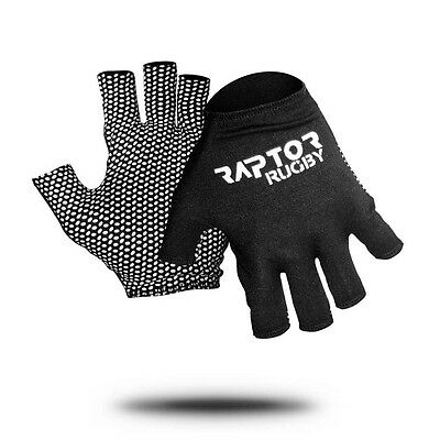 """New Adult/Senior Raptor Rugby Grip Gloves/Stick Mits/Mitts. Large approx 9"""""""