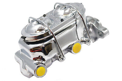 "CPP CHROME MCPV-1 MASTER CYLINDER FORD CHEVY STREET ROD 1/"" BORE"