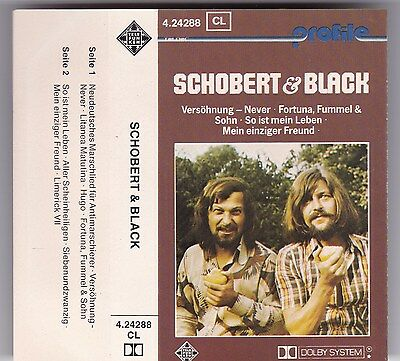 Schobert & Black - Profile Mc Telefunken 1973 Audio Kassette Tape Cassette