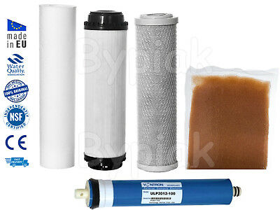 5 Stage Reverse Osmosis RO & DI Complete Filters Replacement 50/75/100/150GPD
