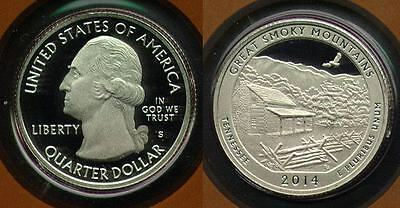 2014 United States Silver 25 Cent Great Smoky Mountains National Park, Tennessee