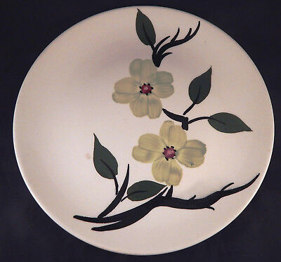 SOUTHERN DOGWOOD – BLUE RIDGE Southern Pottery LUNCHEON PLATE (Chartreuse) #4175