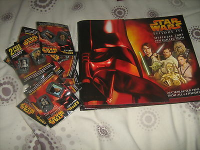 Complete Set of Official Star Wars Episode III 2005 Pin Badges