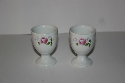 egg cups with flower pattern! 2.5 inches tall! Excellent Condition!