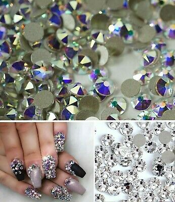 Swarovski crystals flat back for nails lashes clothes design* non hot fix