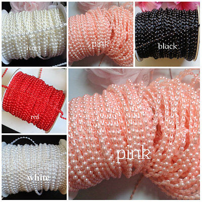 1/8 inch wide  Flat Back Pearl trim price for 2 yard select color