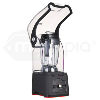 PolyCool Commercial Blender Quiet Enclosed Processor Smoothie Cafe Mixer Fruit