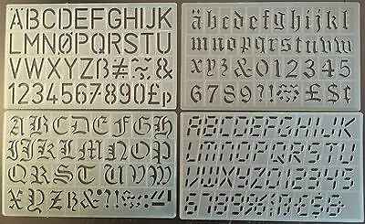30 Mm English Upper Lower Case Alphabet Numbers Stencil Template Digital Gothic
