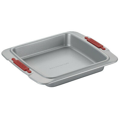 Cake Boss 23cm Square Cake Pan Silver Carbon Steel Bakeware NEW