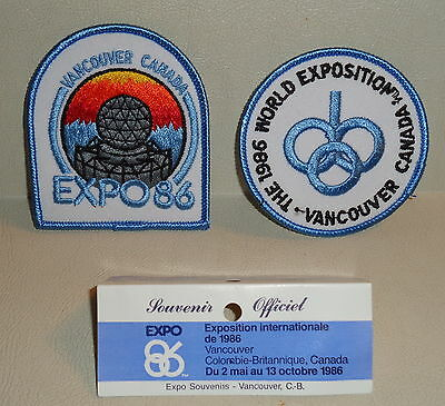Vancouver Canada Expo 86 Patch Set The 1986 World Exposition Canada New Sealed