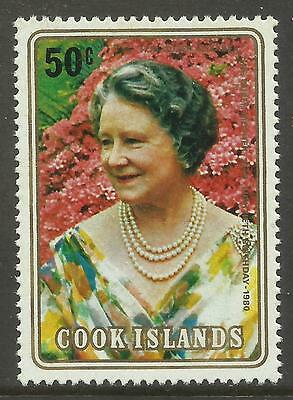 COOK IS 1980 80th Birthday QUEEN ELIZABETH QUEEN MOTHER 1v MNH