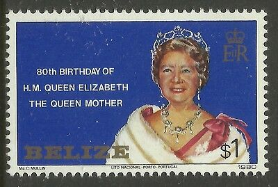 BELIZE 1980 80th Birthday QUEEN ELIZABETH QUEEN MOTHER 1v MNH