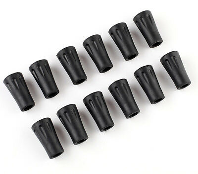 12 x Walking Stick Rubber Ferrule End Hiking Pole Protector Stopper Replacement