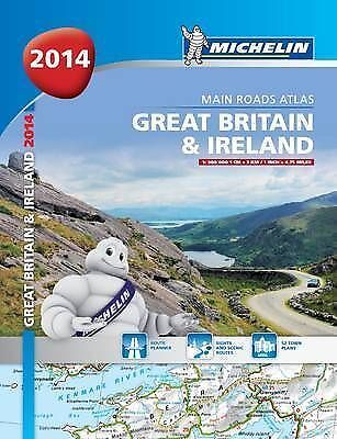 Great Britain and Ireland 2014 Main Road Atlas - paperback (Michelin Tourist and