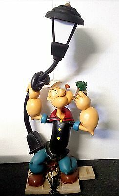 Extremely Rare! Giant Popeye against a Street Lamp Polyester Statue/Figurine