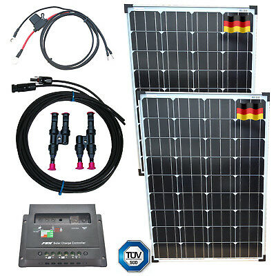 200W Solar Kit with Solar Panel, Controller, Cable, German Solar Cells