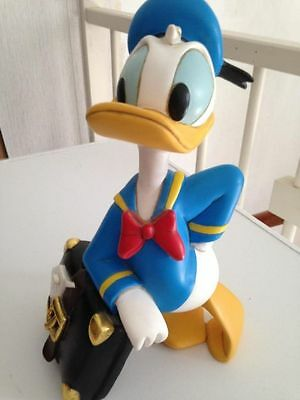 Extremely Rare! Walt Disney Donald Duck Leaning on Suitcase Statue