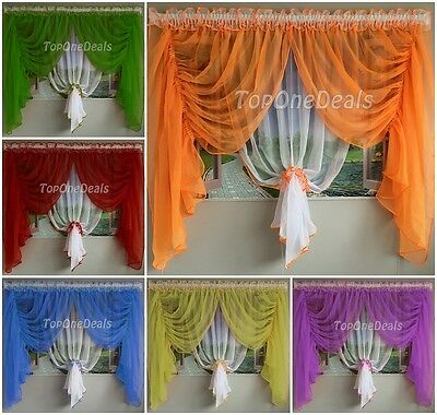 Amazing Ready Made Voile Net Curtain Living Dining Room Bedroom Modern New