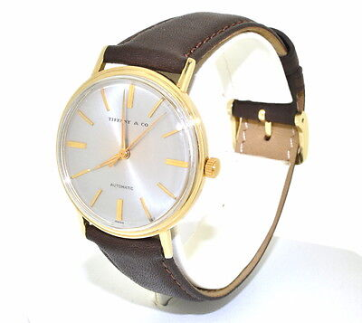 TIFFANY &Co 14K YELLOW GOLD MENS PRE-OWNED AUTOMATIC WATCH