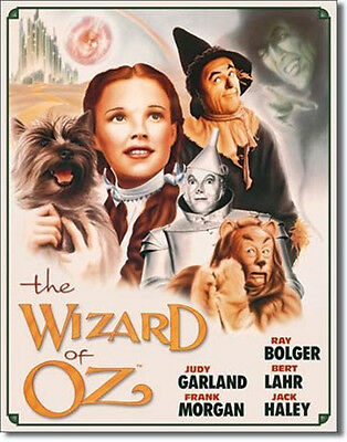 The Wizard of Oz Movie Poster Tin Sign Reproduction #2 NEW UNUSED