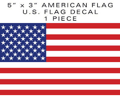 """1 piece American Flag bumper sticker decal 5"""" military tactical USA US VINYL"""