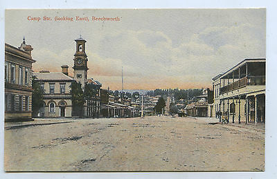 C1910 Pt Npu Postcard Post Office Camp Street Beechworth Vic C62