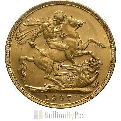 1907 Gold Sovereign - King Edward VII - M