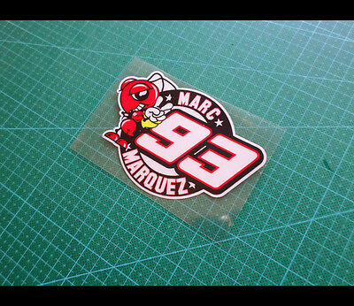 MARC MARQUEZ #93 MOTORCYCLE MOTOGP Decal Reflective Sticker