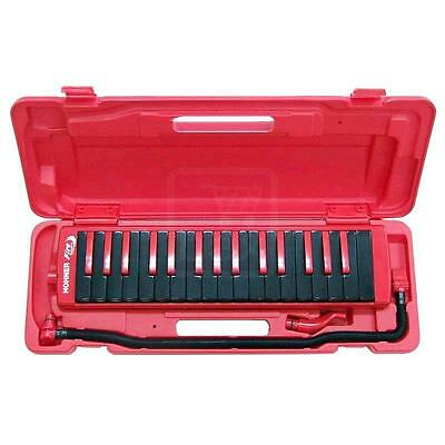 Hohner Melodica Fire 32 note black and red keys with tube, case and hand strap.