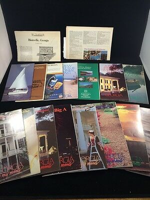 Vintage 1980s 1990s Georgia On My Mind Travel Brochures Highway Maps Guides