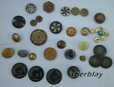 Antique Mixed Button Lot Collection