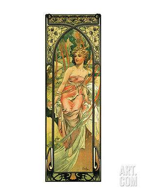 Morning Collections Premium Giclee Poster Print by Alphonse Mucha, 36x48