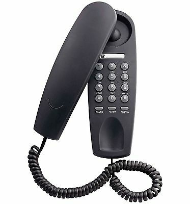 Argos Corded Gondola Wall Mountable Home Phone Telephone - Black - Grade A