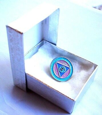 Alcoholics Anonymous Symbol Aa Lapel Hat Vest Pin Na Recovery