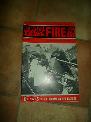FIRE - AUGUST 1966  The Journal of the British Fire Services + Illustrated RARE