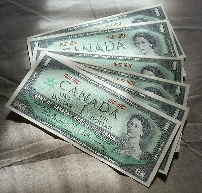 Canada 1967 (One) $1 Dollar Bill Canadian Nice Looking Banknote