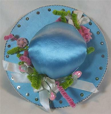 Pin Cushion Sewing Handmade Vintage Victorian Hat Style w/Embellishments
