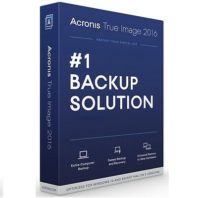 Acronis True Image 2016 Backup Recovery For 1 Computer PC Mac Digital Licence