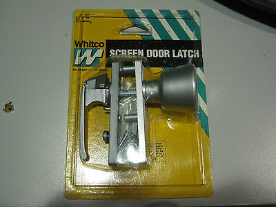Whitco Silver Sreen Door Latch New Old Stock