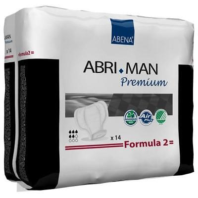 Abri-Man Formula 2 - CASE RATE (12pks x 14) Male Disposable Incontinence Pads
