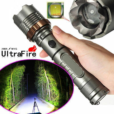10000lumens Flashlight T6 Zoomable Tactical Military LED 18650 Torch Lamp US