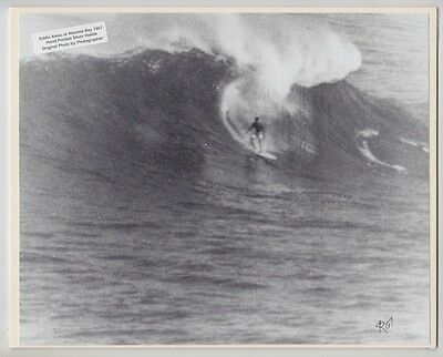 "Rare 1967 Eddie Aikau At Waimea Bay Printed By Photographer On 8X10"" Mat"