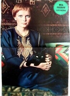MIA FARROW => 2  pages 1970 vintage POSTER Clipping!!!