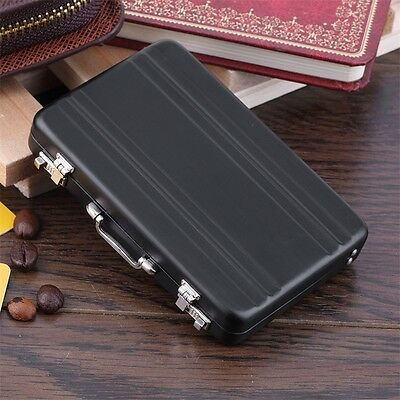 Cool Aluminum Password Briefcase Business Card Credit Card Holder Case Box UL