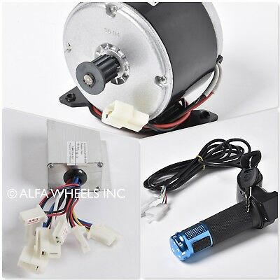 250 W 24 V DC scooter electric motor 1016 kit with speed controller & throttle