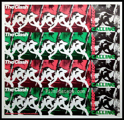 The Clash London Calling Vintage 1980 Promo Poster Near Mint Rolled