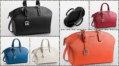 75e5b794e3e Calvin Klein Scarlett saffiano leather city dome satchel shoulder bag  handbag