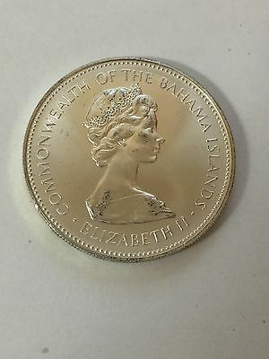 Commonwealth of the Bahama Islands Elizabeth II 1972 Silver Coin